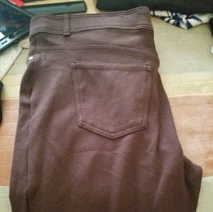 Brown stretch pants